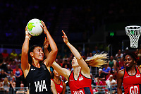 Grace Kara of New Zealand in action. Gold Coast 2018 Commonwealth Games, Netball, New Zealand Silver Ferns v England, Gold Coast Convention and Exhibition Centre, Gold Coast, Australia. 11 April 2018 © Copyright Photo: Anthony Au-Yeung / www.photosport.nz /SWpix.com
