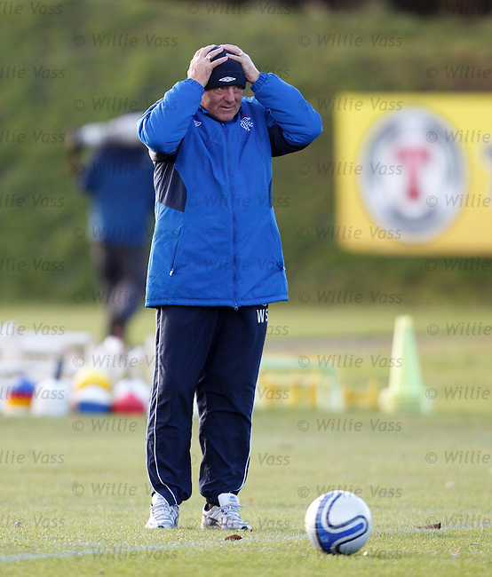 Walter Smith feeling the chill wind at Murray Park