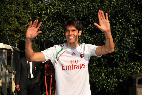 05.09.2013 Milan, Italy. Kaka is Presentated to the media at AC Milan having signed on a two-year-deal.