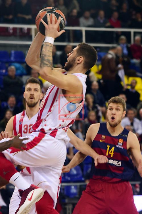 Turkish Airlines Euroleague 2016/2017.<br /> Regular Season - Round 28.<br /> FC Barcelona Lassa vs Crvena Zvezda MTS Belgrade: 67-54.<br /> Stefan Jovic.