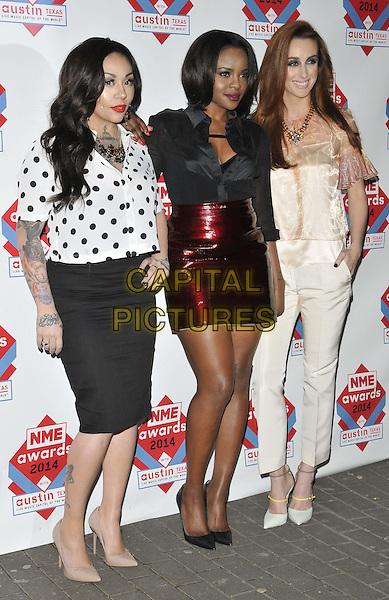 LONDON, ENGLAND - FEBRUARY 26: Mutya Keisha Siobhan ( MKS, Mutya Buena, Keisha Buchanan &amp; Siobhan Donaghy ) attend the NME Awards 2014, O2 Academy Brixton, Stockwell Rd., on Wednesday February 26, 2014 in London, England, UK.<br /> CAP/CAN<br /> &copy;Can Nguyen/Capital Pictures