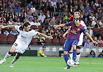 UEFA Champions League, Spain, Camp Nou, FC Barcelona v Viktoria Plzen. Picture show Andres Iniesta shoot for scoring