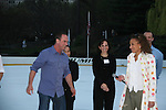 Tamara Tunie (iwth award) with Christopher Meloni & B.D. Wong at Skating with the Stars (celebrities & Olympic skaters), a benefit gala for Figure Skating in Harlem on April 6, 2010 at Wollman Rink, Central Park, New York City, New York. (Photo by Sue Coflin/Max Photos)