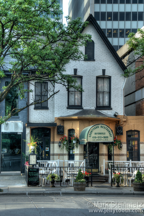 Courtyard Restaurant in the popular Yorkville District of Toronto, Ontario, Canada