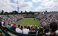 A general view of Court 2<br /> <br /> Photographer Rob Newell/CameraSport<br /> <br /> Wimbledon Lawn Tennis Championships - Day 3 - Wednesday 3rd July 2019 -  All England Lawn Tennis and Croquet Club - Wimbledon - London - England<br /> <br /> World Copyright © 2019 CameraSport. All rights reserved. 43 Linden Ave. Countesthorpe. Leicester. England. LE8 5PG - Tel: +44 (0) 116 277 4147 - admin@camerasport.com - www.camerasport.com