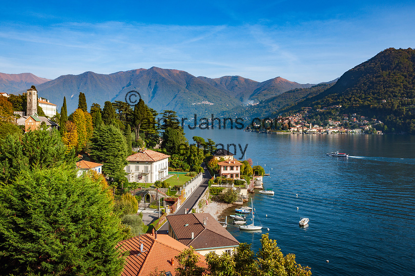 Italy, Lombardia, Moltrasio: village on the West Banks of Lake Como with roman church Sant'Agata (11th century) | Italien, Lombardei, Moltrasio: Gemeinde am Westufer des Comersees mit der  romanischen Kirche Sant'Agata (11. Jahrhundert), gegenueber liegt der Ort Torno