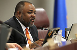 Nevada Assemblyman Jason Frierson, D-Las Vegas, speaks in committee on Wednesday, April 13, 2011, at the Legislature in Carson City, Nev. .Photo by Cathleen Allison