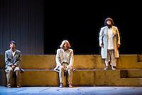 """Concha Delgado, Pastora Vega and Maria Galiana during theater play """"La Asamblea de las Mujeres"""" at Teatro La Latina in Madrid. August 23 2016. (ALTERPHOTOS/Borja B.Hojas) /NORTEPHOTO.COM"""