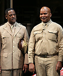 """Blair Underwood and David Alan Grier During the Broadway Opening Night Curtain Call Bows for The Roundabout Theatre Company's """"A Soldier's Play""""  at the American Airlines Theatre on January 21, 2020 in New York City."""