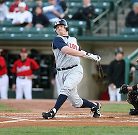 2007:  Chris Shelton of the Toledo Mudhens follows through during an at bat vs. the Rochester Red Wings in International League baseball action.  Photo By Mike Janes/Four Seam Images