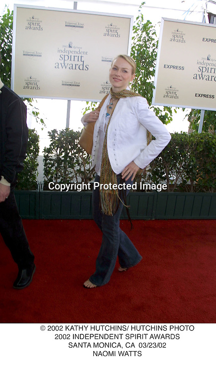 © 2002 KATHY HUTCHINS/ HUTCHINS PHOTO.2002 INDEPENDENT SPIRIT AWARDS.SANTA MONICA, CA  03/23/02.NAOMI WATTS
