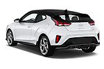 Car pictures of rear three quarter view of a 2019 Hyundai Veloster Turbo Ultimate 5 Door Hatchback angular rear