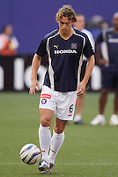 The Chicago Fire's Kelly Gray during pre game warm ups. The Chicago Fire played the NY/NJ MetroStars to a one all tie at Giant's Stadium, East Rutherford, NJ, on May 15, 2004.