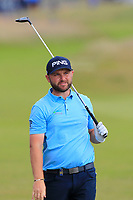 Andy Sullivan (ENG) on the 7th during Round 2 of the Aberdeen Standard Investments Scottish Open 2019 at The Renaissance Club, North Berwick, Scotland on Friday 12th July 2019.<br /> Picture:  Thos Caffrey / Golffile<br /> <br /> All photos usage must carry mandatory copyright credit (© Golffile | Thos Caffrey)