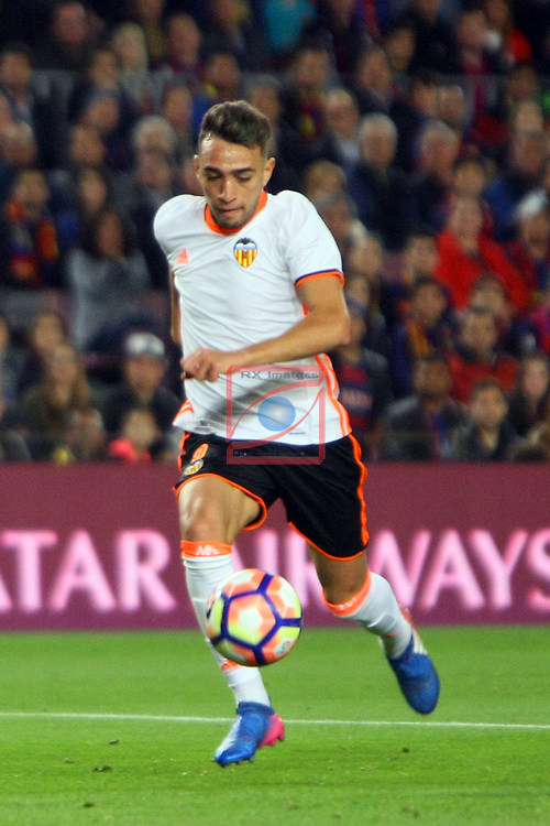 League Santander 2016/2017. Game: 28.<br /> FC Barcelona vs Valencia CF: 4-2.<br /> Munir.