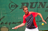 Netherlands, Dordrecht, August 03, 2015, Tennis,  National Junior Championships, NJK, TV Dash 35, Stijn Janssen<br /> Photo: Tennisimages/Henk Koster