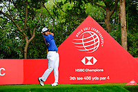 Hideki Matsuyama (JPN) on the 9th tee during the 2nd round at the WGC HSBC Champions 2018, Sheshan Golf CLub, Shanghai, China. 26/10/2018.<br /> Picture Fran Caffrey / Golffile.ie<br /> <br /> All photo usage must carry mandatory copyright credit (&copy; Golffile | Fran Caffrey)
