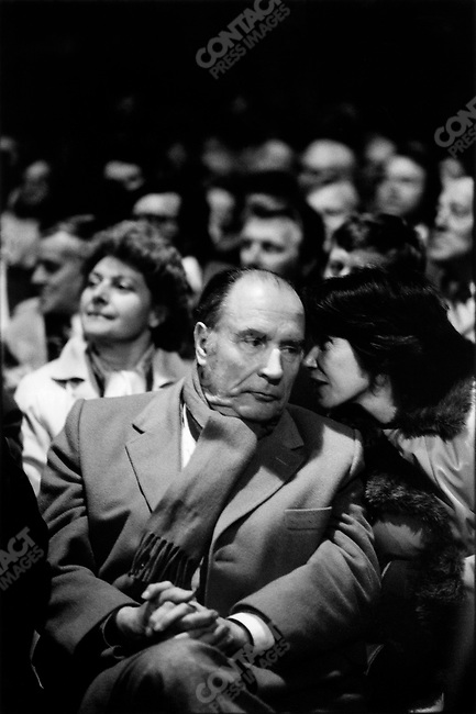 François Mitterrand with his wife Danielle, Lille, France, April 1981