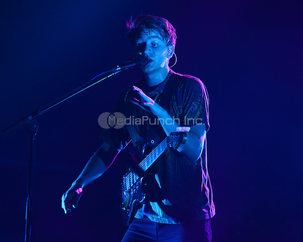 FORT LAUDERDALE FL - DECEMBER 08: Dave Bayley of Glass Animals performs at Revolution on December 8, 2015 in Fort Lauderdale, Florida. Credit: mpi04/MediaPunch
