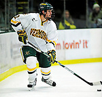 24 November 2009: University of Vermont Catamount defenseman Drew MacKenzie, a Sophomore from New Canaan, CT, in action against the University of Massachusetts Minutemen at Gutterson Fieldhouse in Burlington, Vermont. The Minutemen defeated the Catamounts 6-2. Mandatory Credit: Ed Wolfstein Photo