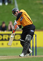 Wellington captain Matthew Bell bats on his way to 124 off 141 balls to lead his team to victory with three overs and six wickets remaining during the State Shield cricket match between the Wellington Firebirds and Central Stags at Allied Prime Basin Reserve, Wellington, New Zealand on Sunday, 11 January 2009. Photo: Dave Lintott / lintottphoto.co.nz