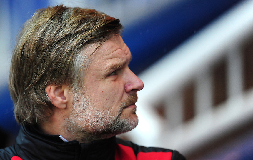 Fleetwood Town manager Steven Pressley <br /> <br /> Photographer Chris Vaughan/CameraSport<br /> <br /> Football - The Football League Sky Bet League One - Peterborough United v Fleetwood Town - Saturday 14th November 2015 - ABAX Stadium - Peterborough<br /> <br /> &copy; CameraSport - 43 Linden Ave. Countesthorpe. Leicester. England. LE8 5PG - Tel: +44 (0) 116 277 4147 - admin@camerasport.com - www.camerasport.com