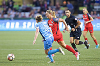Portland, OR - Saturday June 17, 2017: Christie Pearce, Amandine Henry during a regular season National Women's Soccer League (NWSL) match between the Portland Thorns FC and Sky Blue FC at Providence Park.