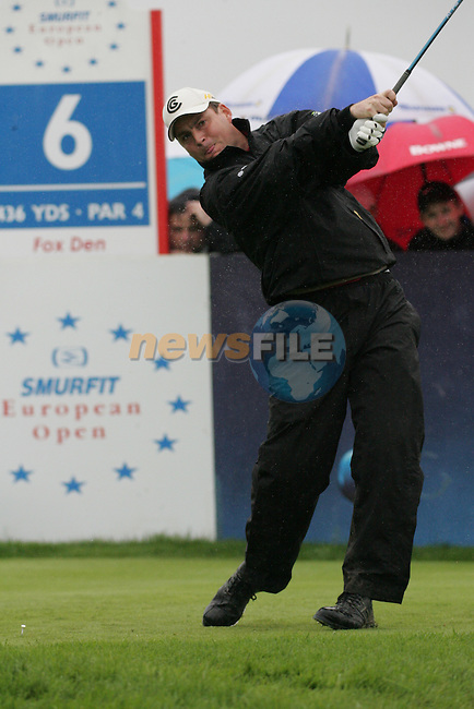 David Howell drives off on the 6th hole during the first round of the Smurfit Kappa European Open at The K Club, Strffan,Co.Kildare, Ireland 5th July 2007 (Photo by Eoin Clarke/NEWSFILE)
