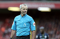 Referee Martin Atkinson<br /> <br /> Photographer Rich Linley/CameraSport<br /> <br /> The Premier League - Liverpool v Manchester City - Sunday 7th October 2018 - Anfield - Liverpool<br /> <br /> World Copyright &copy; 2018 CameraSport. All rights reserved. 43 Linden Ave. Countesthorpe. Leicester. England. LE8 5PG - Tel: +44 (0) 116 277 4147 - admin@camerasport.com - www.camerasport.com
