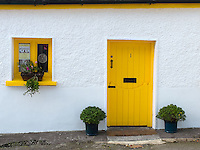County Kerry, Ireland:<br /> Colorful village door &amp; storefront of Dingle on the Ring of Kerry, Dingle peninsula
