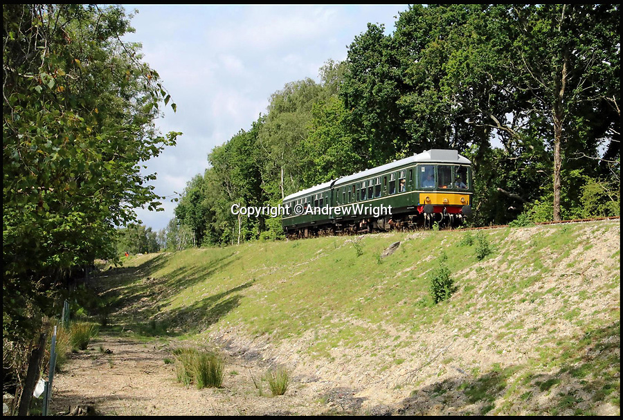 BNPS.co.uk (01202 558833)<br /> Pic: AndrewWright/BNPS<br /> <br /> East of Furzebrook, July 2016.<br /> <br /> A public train service is to run on a railway line ripped up in the 'Beeching Axe' thanks to an army of volunteers who have spent 45 years painstakingly rebuilding it. <br /> <br /> From next month timetabled passenger trains will operate on a daily basis from the mainline down to Swanage in Dorset.<br /> <br /> The Victorian town was effectively cut off from the rail network in 1972 after Dr Richard Beeching, a government railway advisor, recommended it be one of hundreds of loss-making rural lines axed.<br /> <br /> Since then hundreds of people have restored the track which has been upgraded to meet today's safety standards.