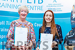 Catherine Dolan and Sinead Quilter receiving their Certificates at the ETB Awards Ceremony in the Rose Hotel on Thursday evening.