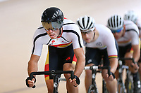 Nick Kergozou of Southland out front in the  Elite Men Omnium 1, Scratch race 10km at the Age Group Track National Championships, Avantidrome, Home of Cycling, Cambridge, New Zealand, Saturday, March 18, 2017. Mandatory Credit: © Dianne Manson/CyclingNZ  **NO ARCHIVING**