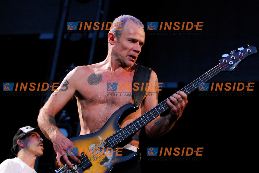 Michael Balzary.Parigi 30/06/2012 Concerto dei Red Hot Chili Peppers allo Stadio di Francia..Photo Federico Pestellini /Panramic/Insidefoto.ITALY ONLY.