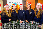 l-r  Jade Riordan, Christina Flannery, Rachel Sullivan, Emma Flanagan and Amy Quirke Students at  Presentation Secondary School Santa Hat Day in aid of Ronald McDonald House.