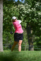 Brittany Lincicome (USA) watches her tee shot on 16 during Saturday's round 3 of the 2017 KPMG Women's PGA Championship, at Olympia Fields Country Club, Olympia Fields, Illinois. 7/1/2017.<br /> Picture: Golffile | Ken Murray<br /> <br /> <br /> All photo usage must carry mandatory copyright credit (&copy; Golffile | Ken Murray)