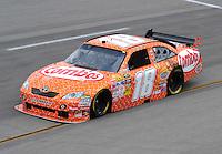 May 1, 2009; Richmond, VA, USA; NASCAR Sprint Cup Series driver Kyle Busch during practice for the Russ Friedman 400 at the Richmond International Raceway. Mandatory Credit: Mark J. Rebilas-