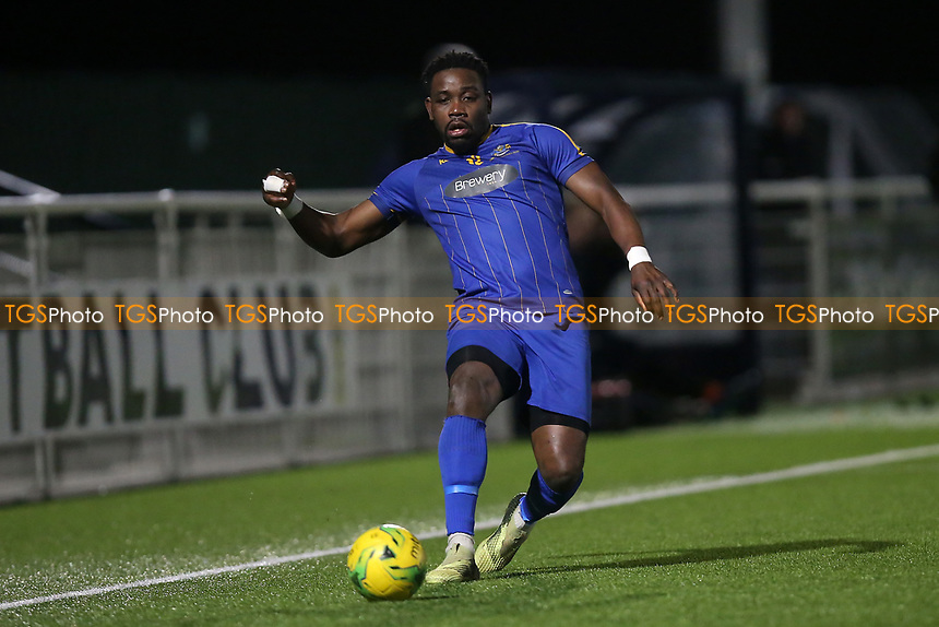 Lheureux Menga of Romford during Romford vs Brentwood Town, BetVictor League North Division Football at Parkside on 11th February 2020