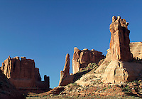 Rocky spires near Wall Street, Arches National Park, Utah