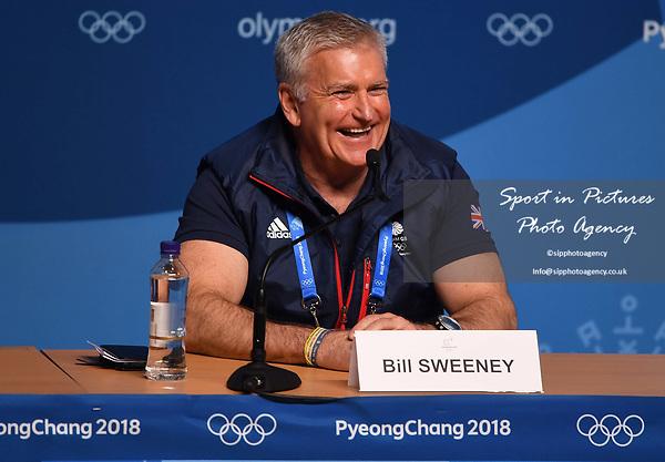Bill Sweeney (BOA Chief Executive). TeamGB final press conference. Main press centre. Alpensia. Pyeongchang2018 winter Olympics. Republic of Korea. 25/02/2018. ~ MANDATORY CREDIT Garry Bowden/SIPPA - NO UNAUTHORISED USE - +44 7837 394578