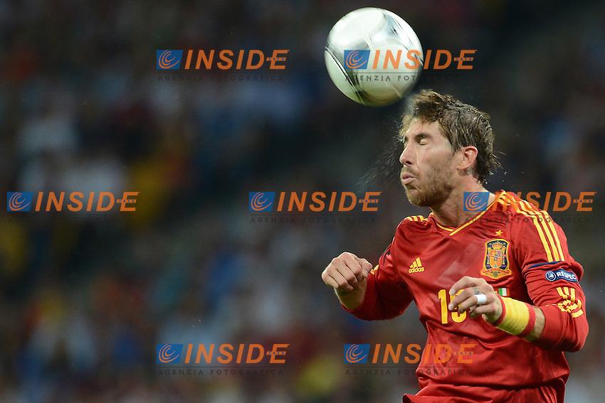 "Sergio Ramos Spain.Kiev 01/07/2012  ""Stadio Olimpico"".Football calcio Europeo 2012 Spagna Vs Italia.Football Calcio Euro 2012.Foto Insidefoto Alessandro Sabattini..."