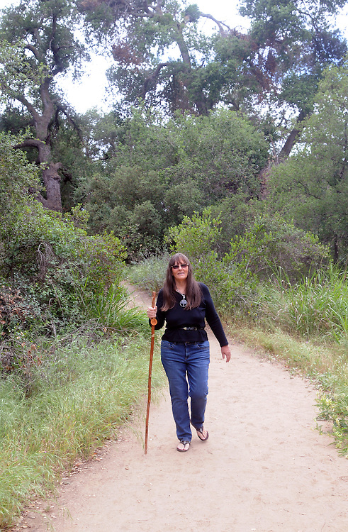Ginny Christensen, on a hike thru Santa Roas Plateau Ecological Reserve, in Murrieta, CA, on Saturday, April 30, 2016. Photo by Jim Peppler. Copyright Jim Peppler  2016.