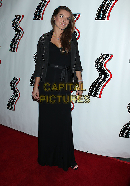 Natalia Tarnowska<br /> 13th annual Polish film festival at American Cinematheque's Egyptian Theatre, Hollywood, California, USA.<br /> 9th October 2012<br /> full length black jacket dress  <br /> CAP/ADM/RE<br /> &copy;Russ Elliot/AdMedia/Capital Pictures