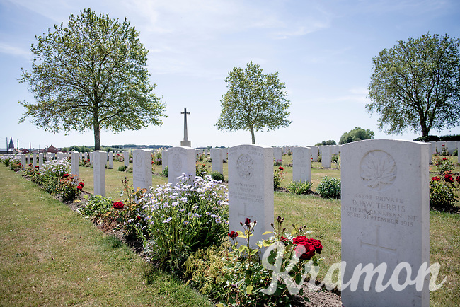 Wulvergem Military Cemetery<br /> <br /> Almost with every turn you make in Heuvelland, the road will lead you by a Great War Cemetery.  These WW1 cemeteries & memorials come in many forms and are always maintained in an impeccable shape; even after the Great War ended more then 100 yrs ago, it's presence/impact is still very prominent in this region of Flanders (Fields).<br /> <br /> cycling hotspots & impressions in Heuvelland<br /> <br /> Cycling In Flanders <br /> Flanders Tourist Board<br /> <br /> ©kramon