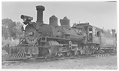 Pilot-end, fireman's-side view of RGS K-27 #455.  Another engine is coupled behind.<br /> RGS  Durango, CO  Taken by Maxwell, John W. - ca 1940