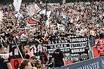 14.04.2018, BayArena, Leverkusen , GER, 1.FBL., Bayer 04 Leverkusen vs. Eintracht Frankfurt<br /> im Bild / picture shows: <br /> die Fqans verabschieden sich von der Mannschaft Frankfurt<br /> <br /> <br /> Foto &copy; nordphoto / Meuter