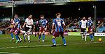 Billy Sharp of Sheffield Utd (L) scores the winning goal - English League One - Scunthorpe Utd vs Sheffield Utd - Glandford Park Stadium - Scunthorpe - England - 19th December 2015 - Pic Simon Bellis/Sportimage