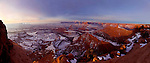 Dead Horse Point at Dawn with Snow