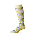 Trig Compression Socks, 2014. Designed by Matthew Kroeker and Ben Grynol, manufactured by Top & Derby. Nylon, Spandex. Gift of Top & Derby Limited. Photo: Matt Flynn © Smithsonian Institution