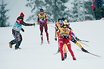 HOLMENKOLLEN, OSLO, NORWAY - March 16: Magnus-H. Moan of Norway (NOR) leading group of athletes during the cross country 15 km (2 x 7.5 km) competition at the FIS Nordic Combined World Cup on March 16, 2013 in Oslo, Norway. (Photo by Dirk Markgraf)